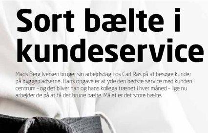 """Carl Ras """"Sortbælte i kundeservice"""" træning hos Resma"""